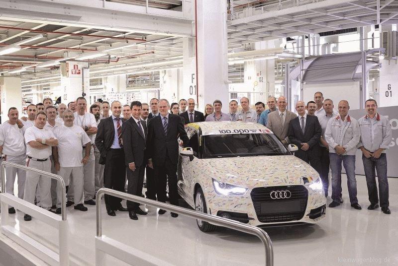 100.000ster Audi A1 läuft vom Band