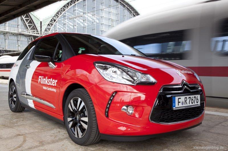 Citroën DS3 verstärkt Flinkster-Flotte der Deutschen Bahn