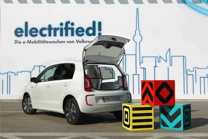 der volkswagen e up f r den pizzaboten. Black Bedroom Furniture Sets. Home Design Ideas