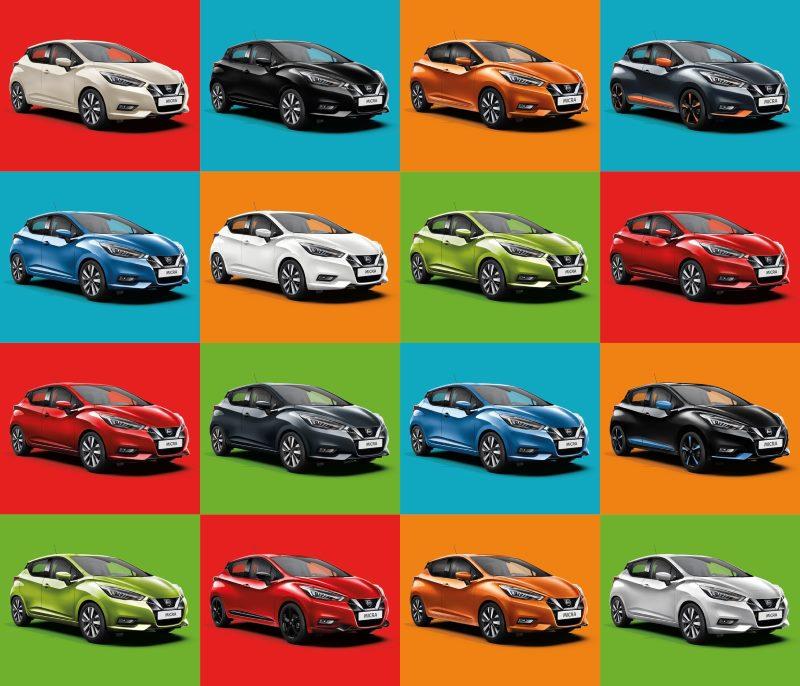 Die Farben des Nissan Micra