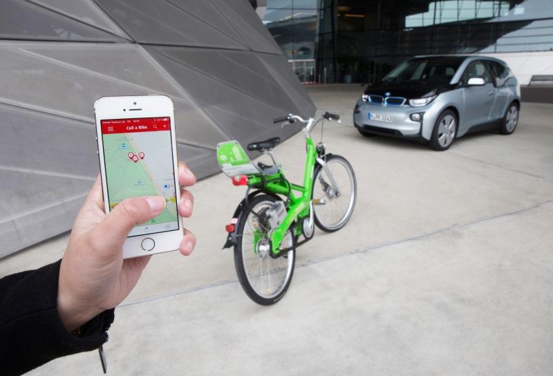 """Fahrrad-Vermietsystem """"Call a Bike"""" wird in die intermodale Routenführung für den BMW i3 mit aufgenommen"""