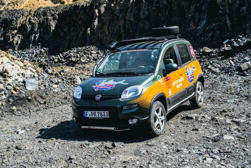 Fiat Panda 4x4 bereit für die Island-Tour