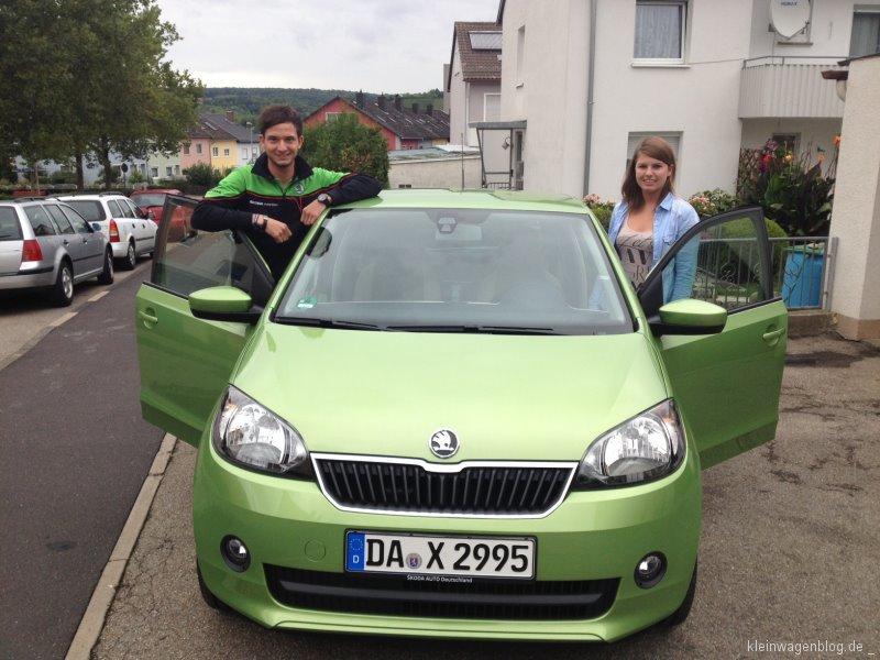 "Kampagne ""DON´T DRINK AND DRIVE"": Rallyepilot Sepp Wiegand übergibt ŠKODA Citigo an Gewinnerin Anne Kunad"