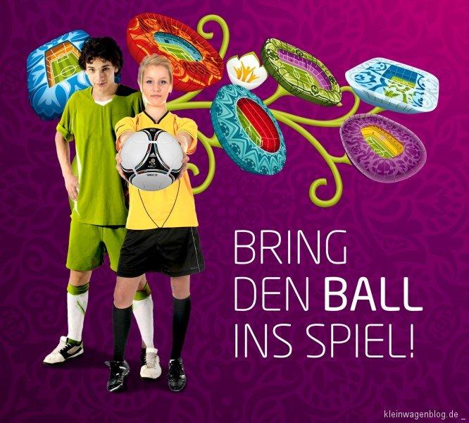Kia sucht das offizielle Ballkind für das Finale der Fußball-Europameisterschaft 2012