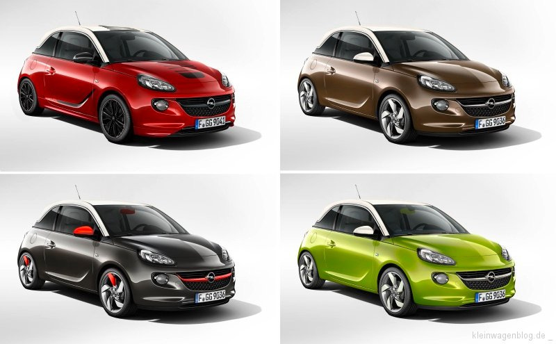 opel adam in paris fast jedes modell ein unikat kleinwagenblog. Black Bedroom Furniture Sets. Home Design Ideas