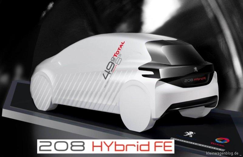 Peugeot und TOTAL präsentieren den 208 HYbrid FE
