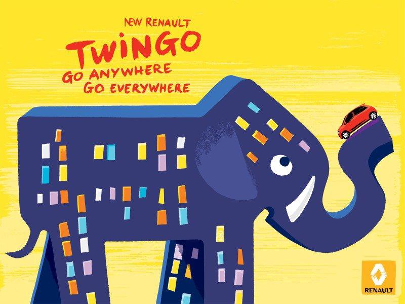 Renault mit phantasievoller Twingo-Werbekampagne