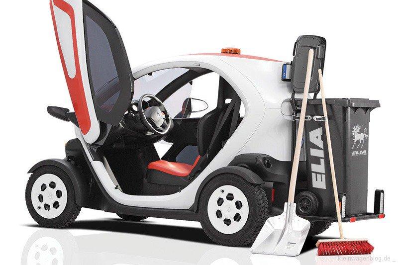 Renault Twizy als Müllwagen