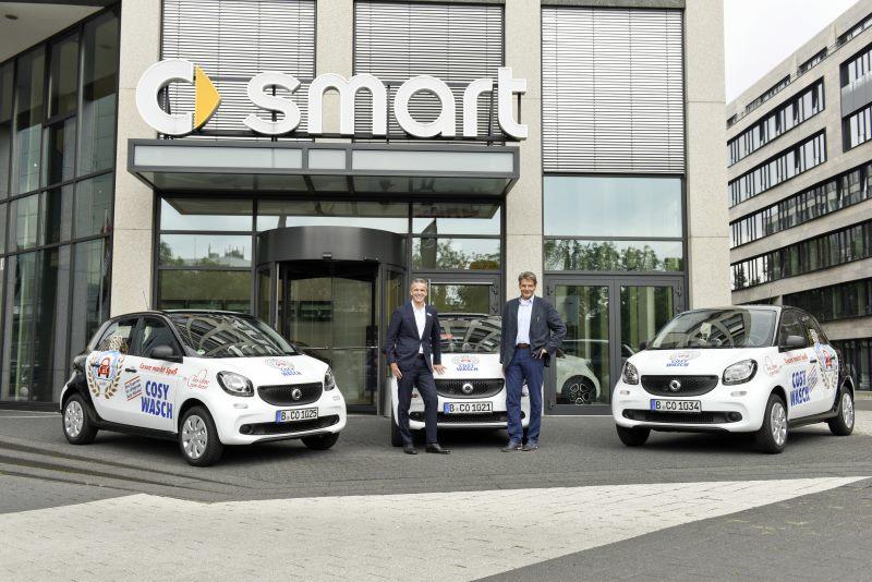 smart Flotten-Business: 50 smart forfour für COSY-WASCH
