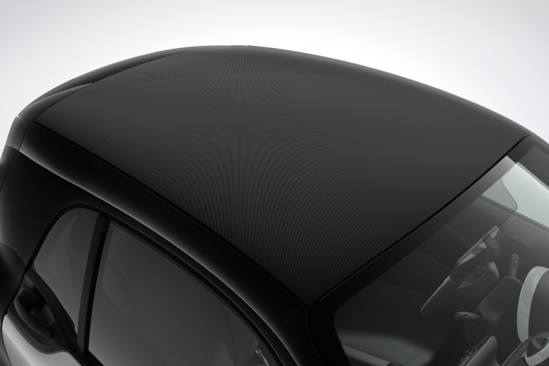 smart fortwo coupé mit Softtop-Optik