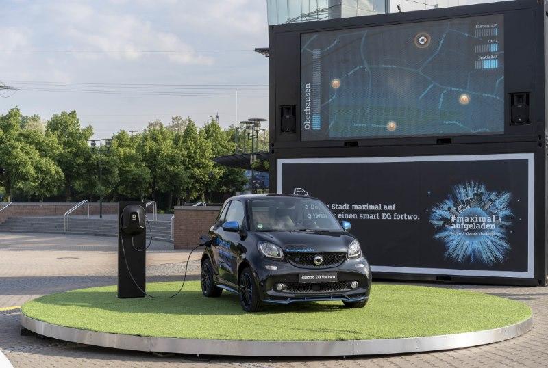 smart Roadshow: smart elektrisiert die Städte