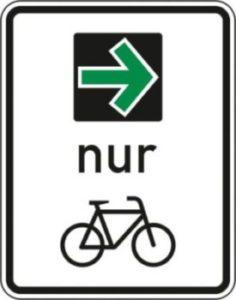 Grünpfeil nur für Radfahrer?
