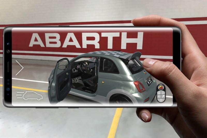Den neuen Abarth 695 70° Anniversario mit Augemented Reality erleben
