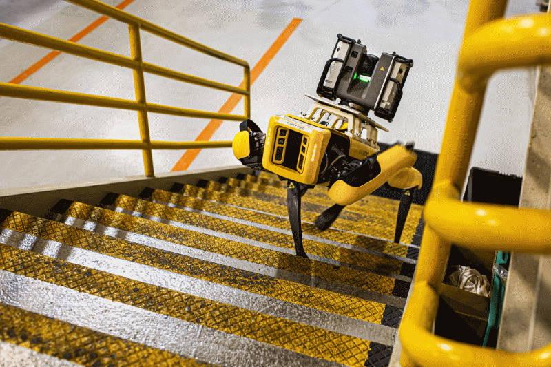 Ford experimentiert mit vierbeinigen Robotern für den Einsatz in schwer zugänglichen Fabrikbereichen