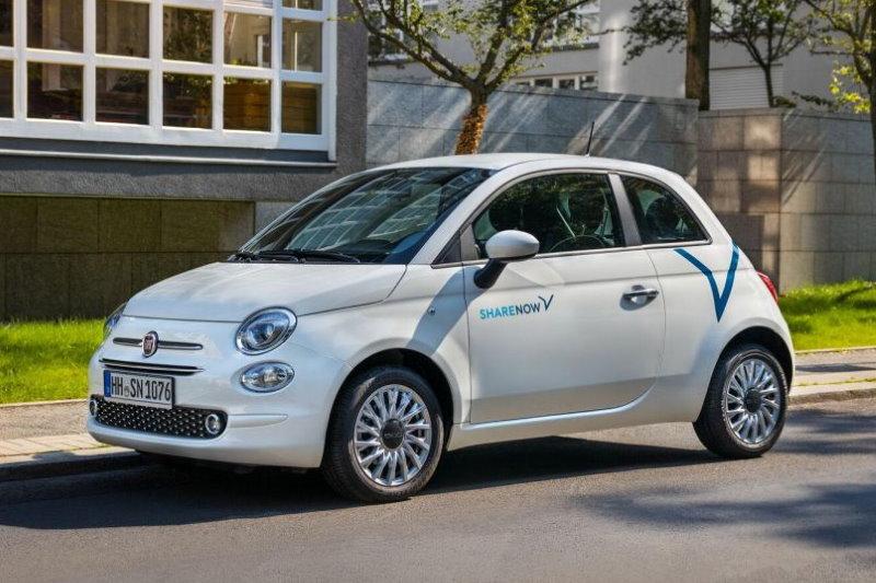 Carsharing-Anbieter SHARE NOW nimmt Fiat 500 in seine Flotte auf
