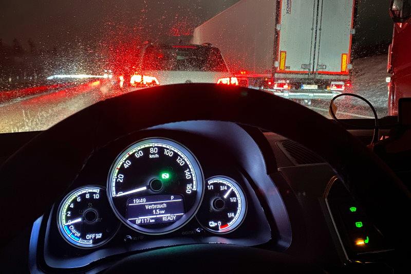 E-Auto hält Minusgraden auch in stundenlangen Staus Stand