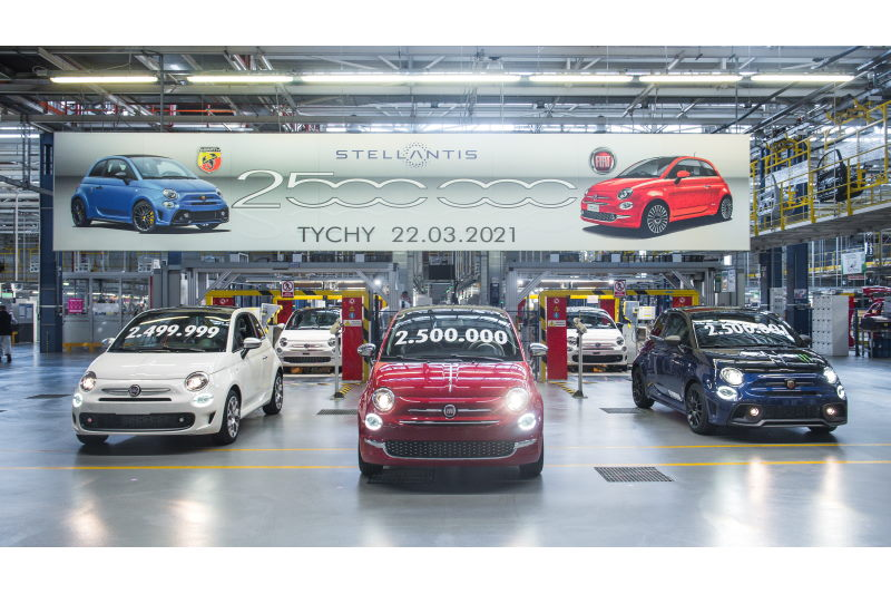 2.5 Millionen Fiat-500 2021