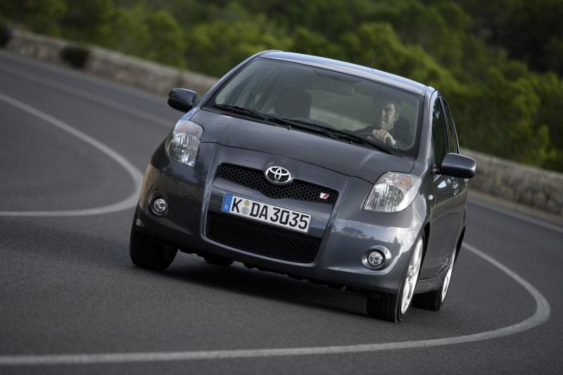 Vier Generationen Toyota Yaris