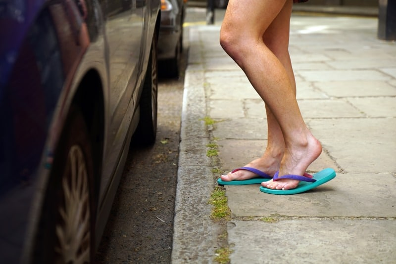 Fahren Mit Flip Flops